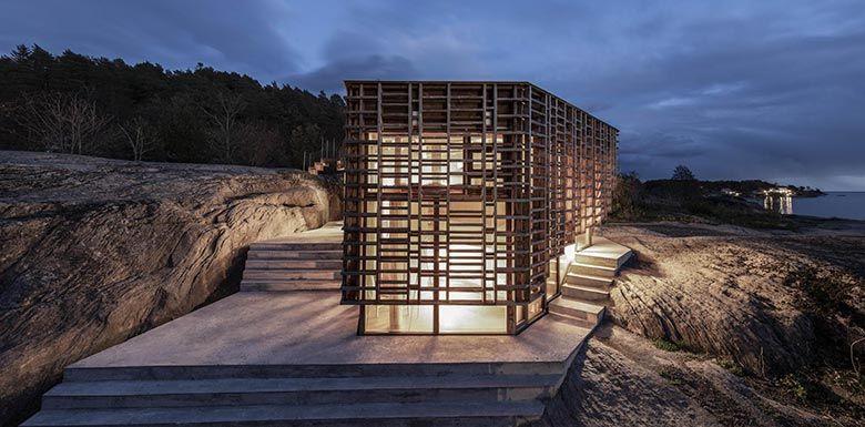 挪威海岛上的艺术家之家