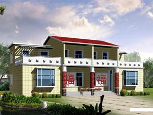 新农村住宅设计图纸含效果图高清图片