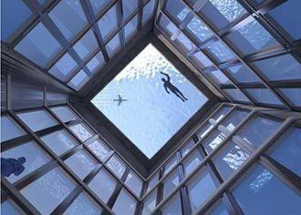 全球首个360度无边际泳池引热议
