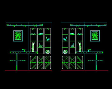 餐厅酒柜设计图