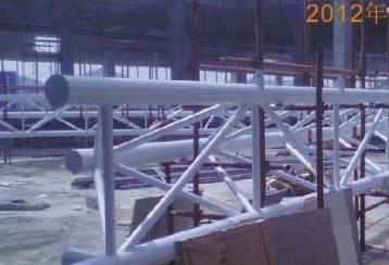 3000平钢结构采光顶施工