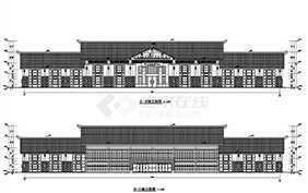 景区游客中心框架结构建筑结构施工图