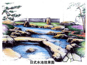 日式庭园设计效果图