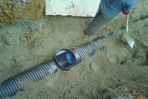 几张塑料检查井的施工照片