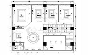 二层中式茶馆品茶室茶吧装修设计图
