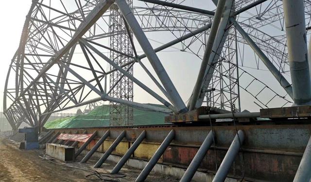 【早安结构】国内水平滑移跨度最大的钢