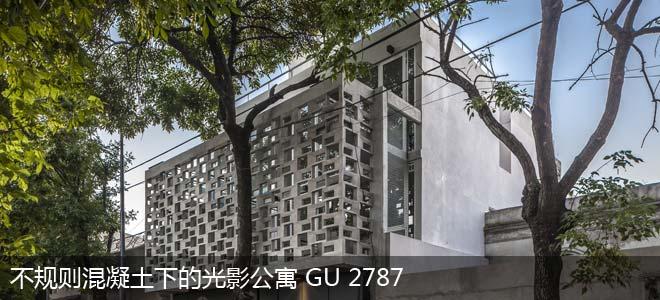 不规则混凝土下的光影公寓 GU 2787