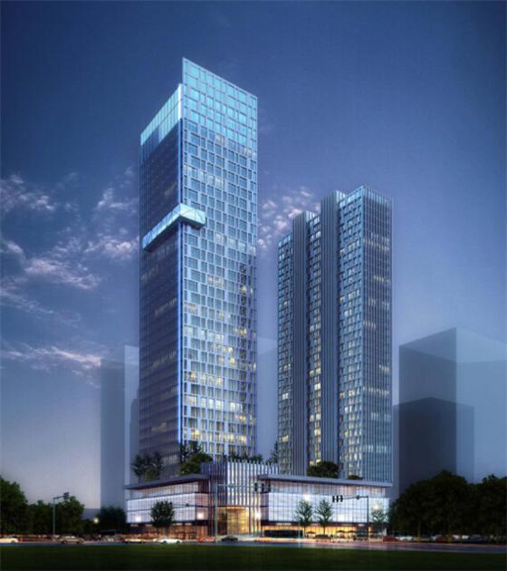 知名院设计高层商业综合体建筑设计方案效果图 玻璃幕墙