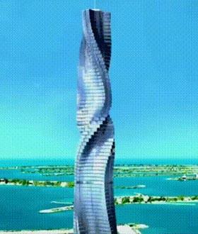 只有迪拜土豪玩得起的旋转4D大楼