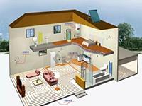 图解太阳能采暖系统运行原理