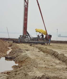 沿海吹填土的软基处理施工图片