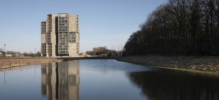 旋转塔楼-丹麦大学学生公寓设计