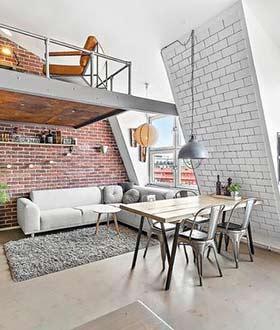 纽约斜顶loft设计案例欣赏