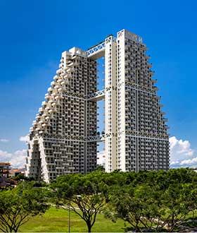 新加坡直达天空的集合住宅