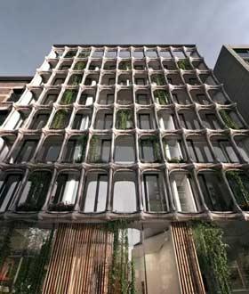 一栋向高迪致敬的公寓楼