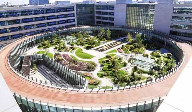 好丰富的生命之环——泰康商学院中心庭