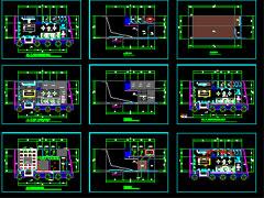 图纸是某销售楼   建筑设计   方案,图纸内容:接待台平面图,接