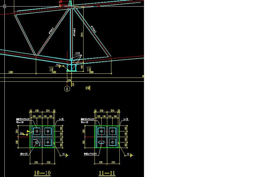 下图是一个40米跨度的倒三角形桁架支座节点。支座采用一端铰接一端留长圆孔滑动。有几个问题想请教大家。 1.滑动支座这边的支座底板和柱顶预埋钢板之间是否一定要加一层聚四氟乙烯板和一层过渡钢板?聚四氟乙烯板和过渡钢板一般取多厚? 2.铰接支座那边的支座底板和排架柱顶预埋钢板采用焊接。滑动支座这边我想在桁架安装完毕,恒载加载完成后把支座底板和柱顶预埋钢板也焊接在一起。因为考虑到滑动支座这边如果一直不焊接的话,地震和风荷载(主要是地震荷载下)水平力只有靠两块板之间的摩擦力进行传递。如果出现中震等水平力较大的情况,